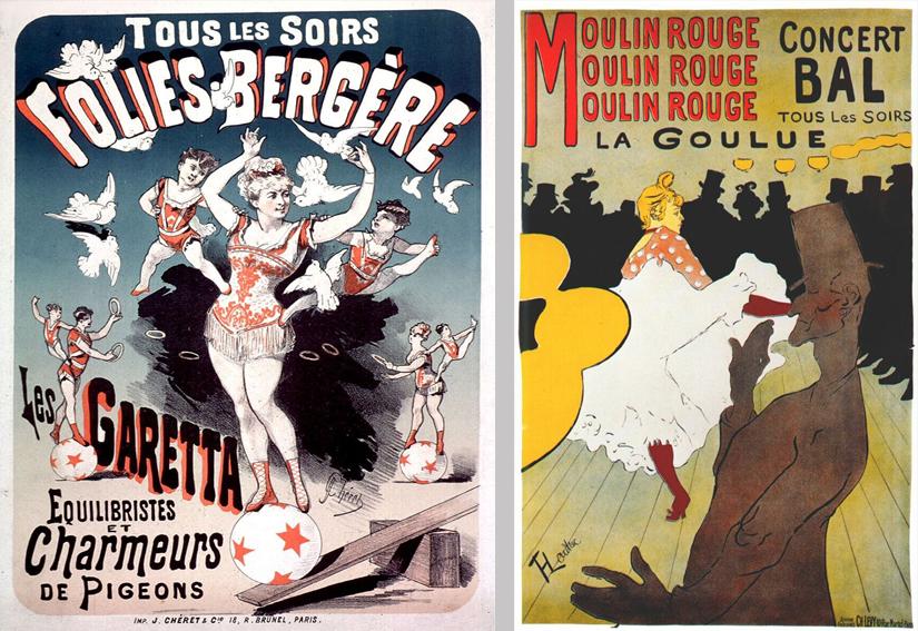 Cartel de Jules Chéret y Touluse Loutrec
